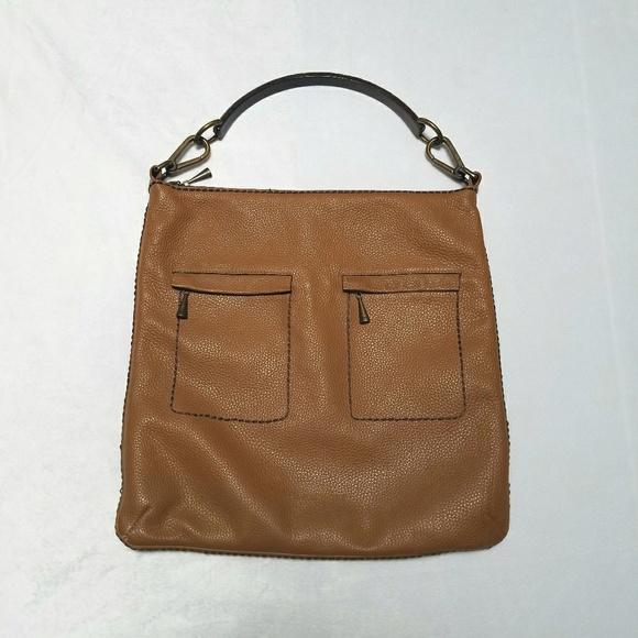 294baa833bd PLINIO VISONA Genuine Leather Bag w/ Wooden Handle